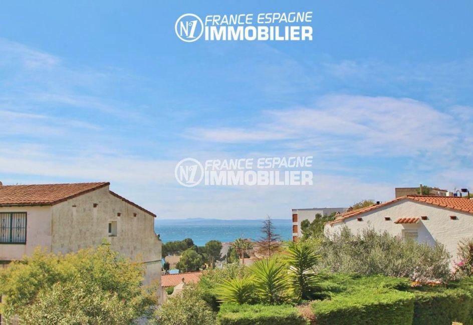 appartements a vendre a rosas, ref.2862, vue mer et montagnes depuis la terrasse