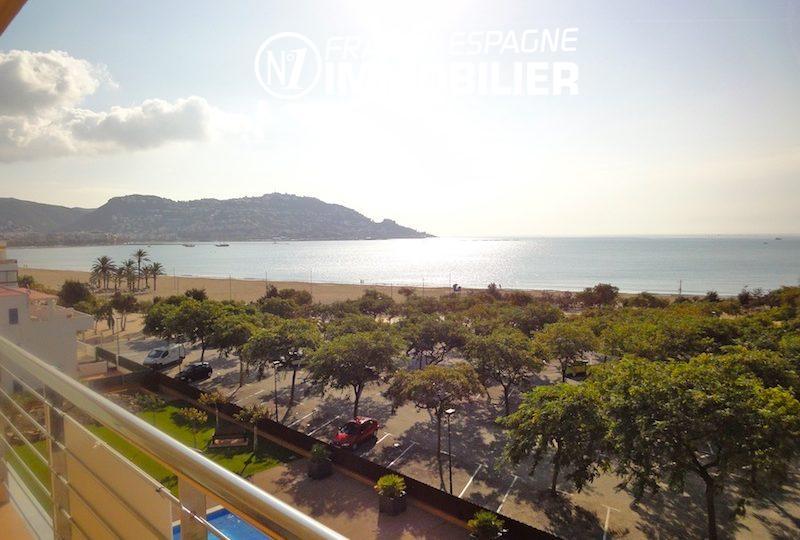 immo center rosas: appartement 85 m², terrasse superbe vue mer