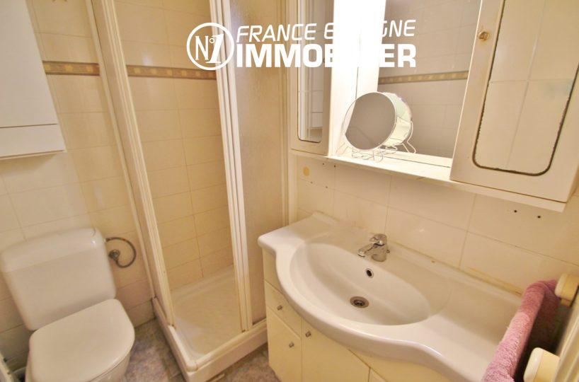ventes immobilieres rosas espagne: ref.2824, salle d'eau  avec douche, meuble vasque, wc