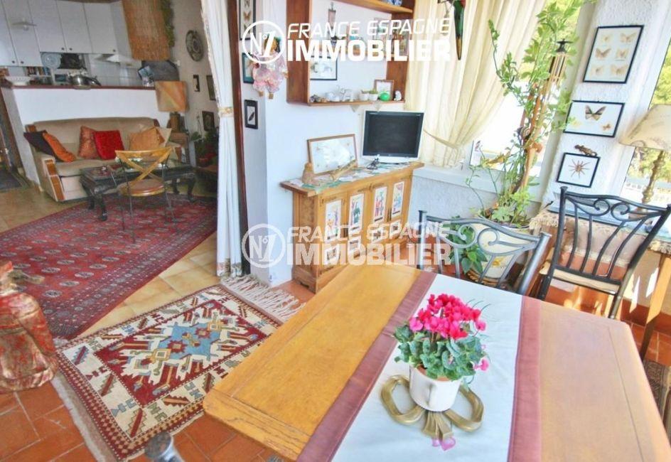 maison a vendre espagne rosas, 65 m², salon / séjour avec des rangements