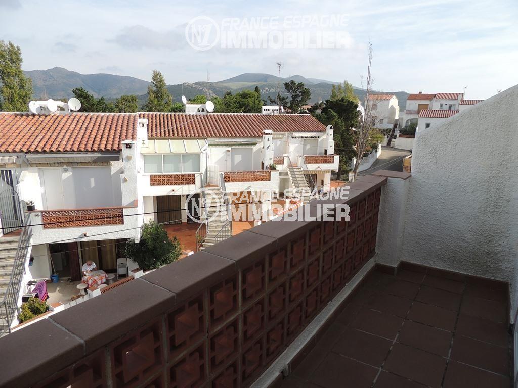 immobilier roses espagne: villa ref.2470, troisième terrasse avec une vue dégagée