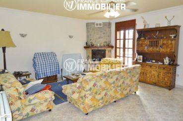 espagne immobilier costa brava: villa ref.1950, salon avec cheminée