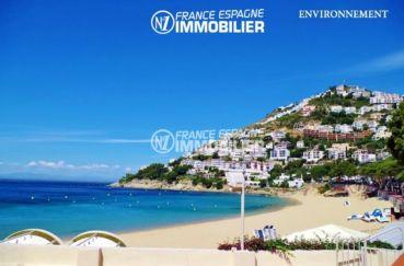 magnifique paysage de la mer et la côte environnante