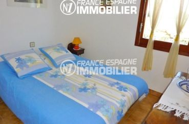 vente immobilier costa brava: villa 108 m², chambre 2 avec lit double
