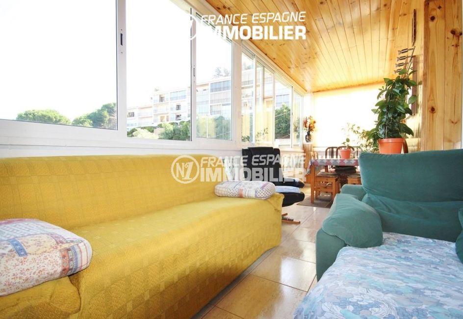 vente immobilier rosas espagne: villa ref.2943, aperçu terrasse 14 m², coté canapé