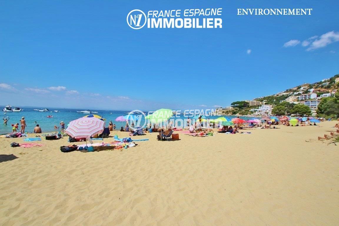 immo roses espagne: villa ref.2735, vue sur la plage et la côte environnante