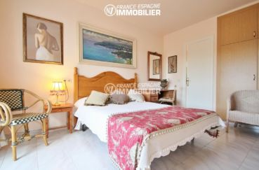 agence immobiliere costa brava: villa ref.3271, troisième chambre avec grand lit