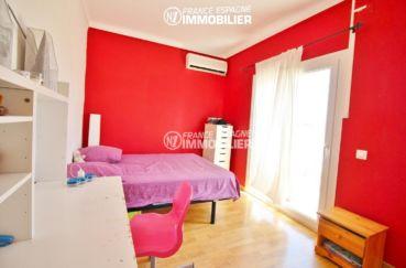 achat immobilier espagne costa brava: villa 150 m², 2° chambre à coucher, climatisation