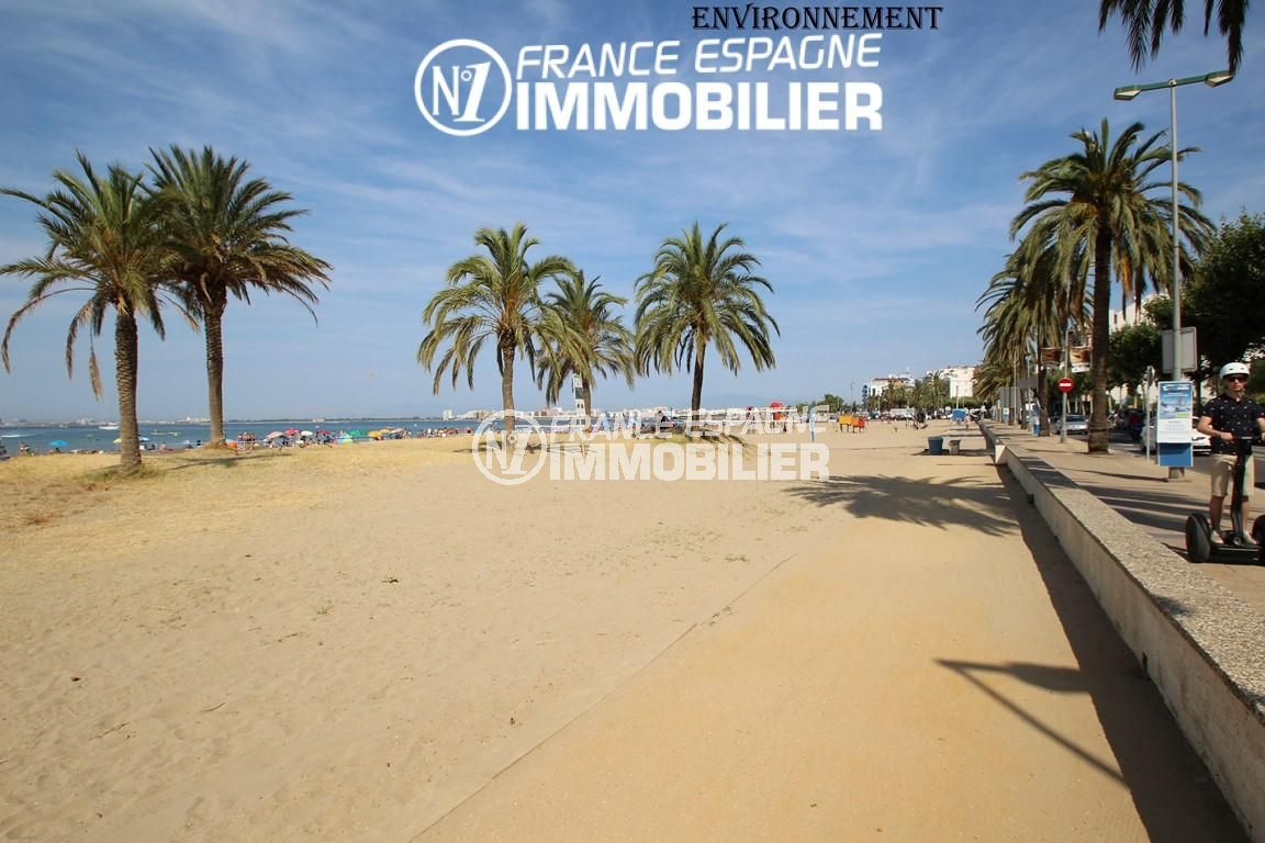 immo roses: villa ref.2191, promenade le long de la plage à proximité