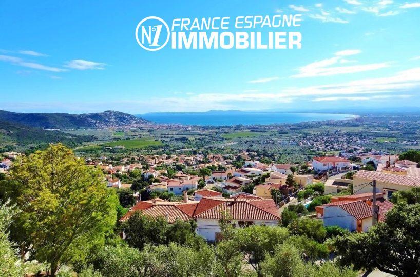 immocenter roses: villa ref.2497, vue sur les montagnes et la baie environnante