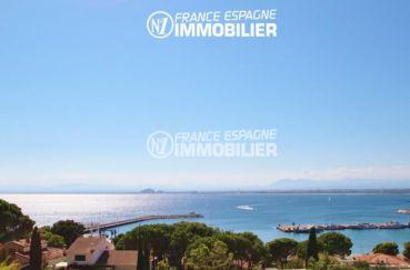 immo roses: villa ref.2392, vue panoramique de la maison, mer et montagnes