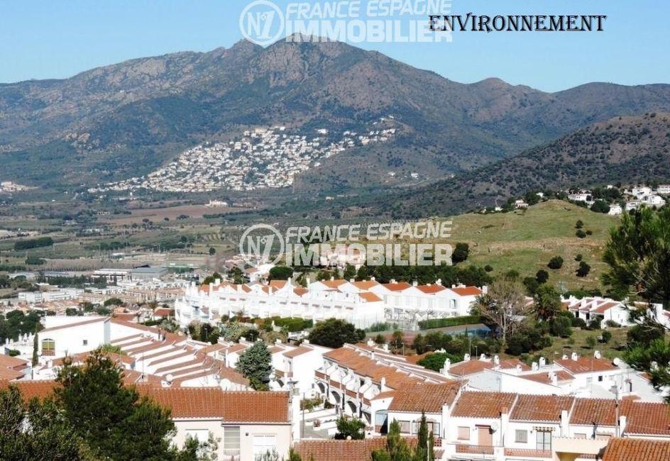 immo roses: villa ref.2470, magnifique paysage des montagnes aux alentours