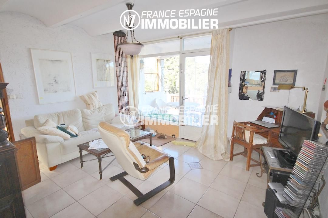 maison à vendre costa brava,  ref.2901, vue séjour accès terrase