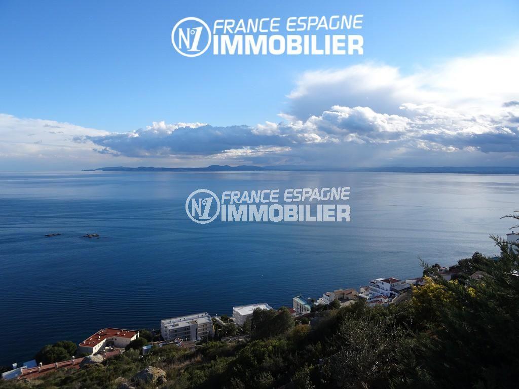 immo roses espagne: terrain ref.2484, sublime vue de la mer et de la côte