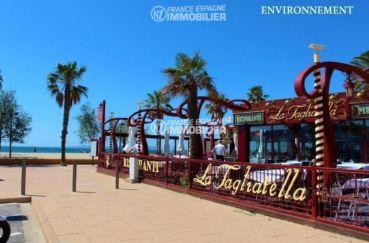 terrasse de restaurants près de la plage aux environs