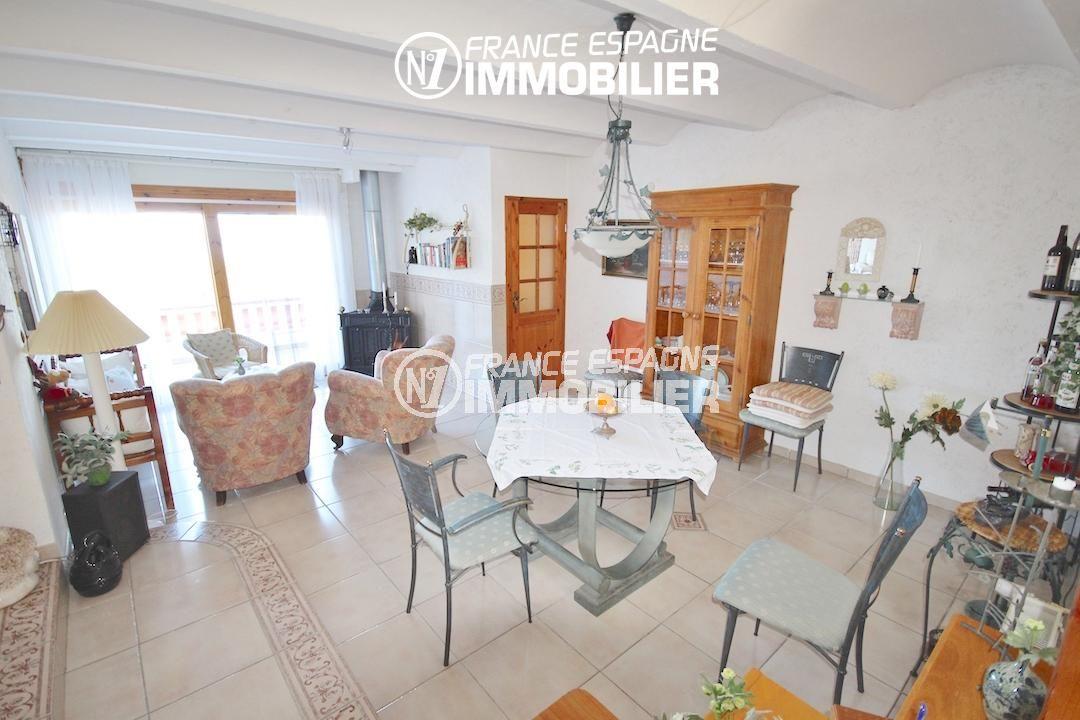 achat maison costa brava,  ref.2901, vue salle à manger et accès terrasse