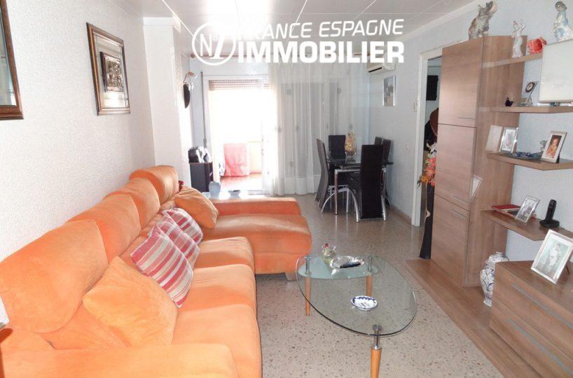 Roses (Espagne) - appartement proche plage - vue séjour