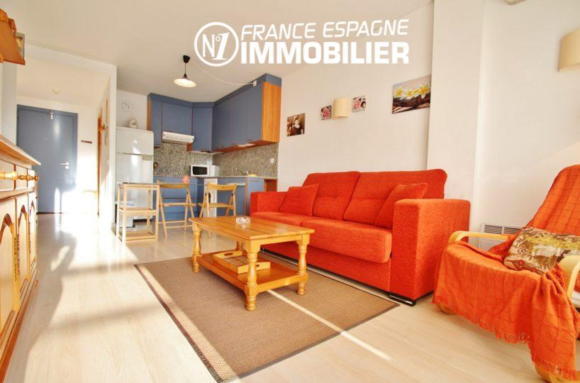immo rosas, vend appartement 2 chambres, exposition sud, pas cher