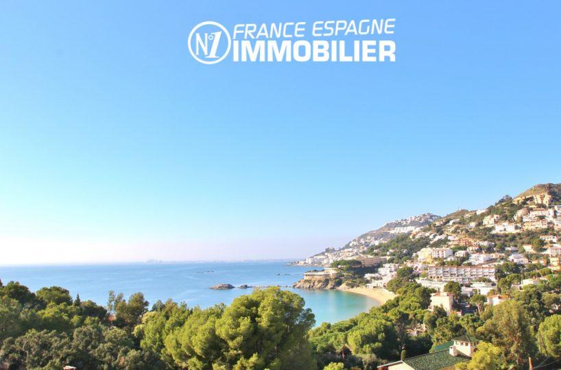 maison a vendre rosas vue mer: villa individuelle plage à pied