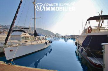 immo roses: amarre-anneau ref.2759, concession de 12 m x 4.5 m pour voilier