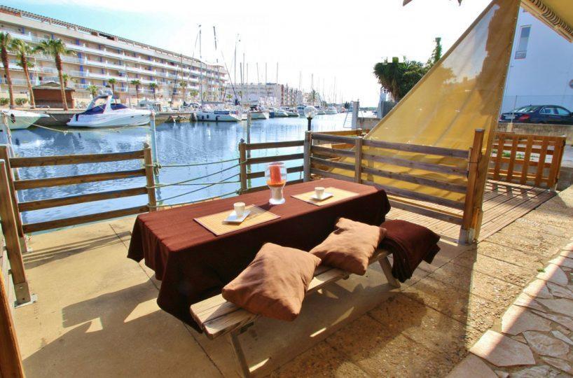 agence immobiliere rosas santa margarita, maison à vendre sur marina rosas, avec amarre 12 m