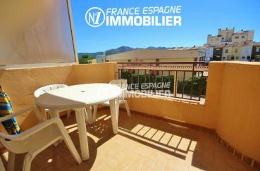 immo espagne costa brava - studio avec terrasse et parking, proche plage et commerces