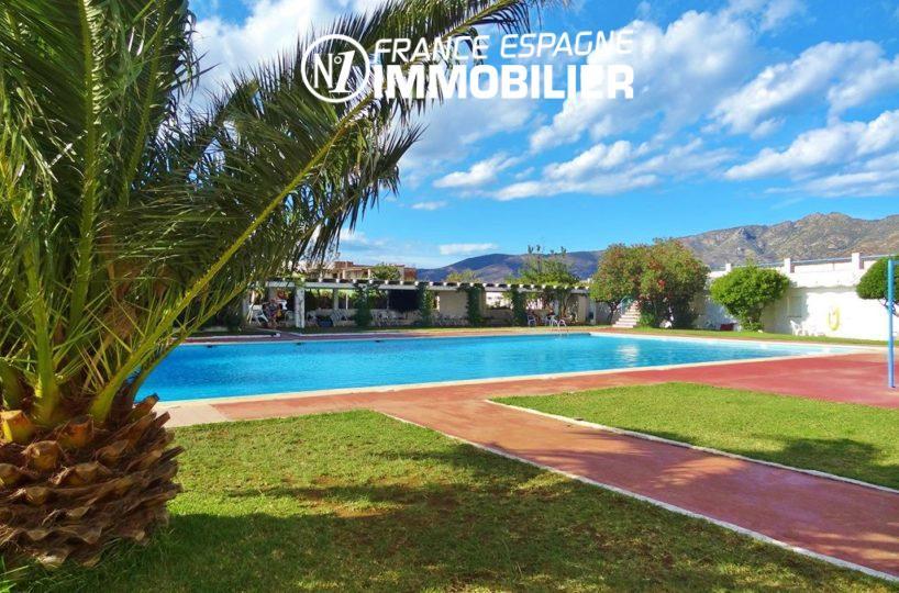 appartements a vendre costa brava, 27 m² avec piscine, petit prix