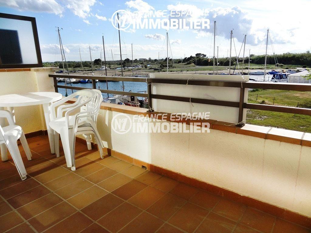 vente appartement rosas pas cher: studio 40 m² à Santa Margarida, terrasse vue canal