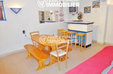appartement a vendre rosas, ref.1128, 50 m² avec séjour, chambre & salle de bains