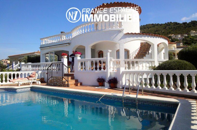 palau saverdera - belle villa vue mer exposition sud, vue sur la piscine