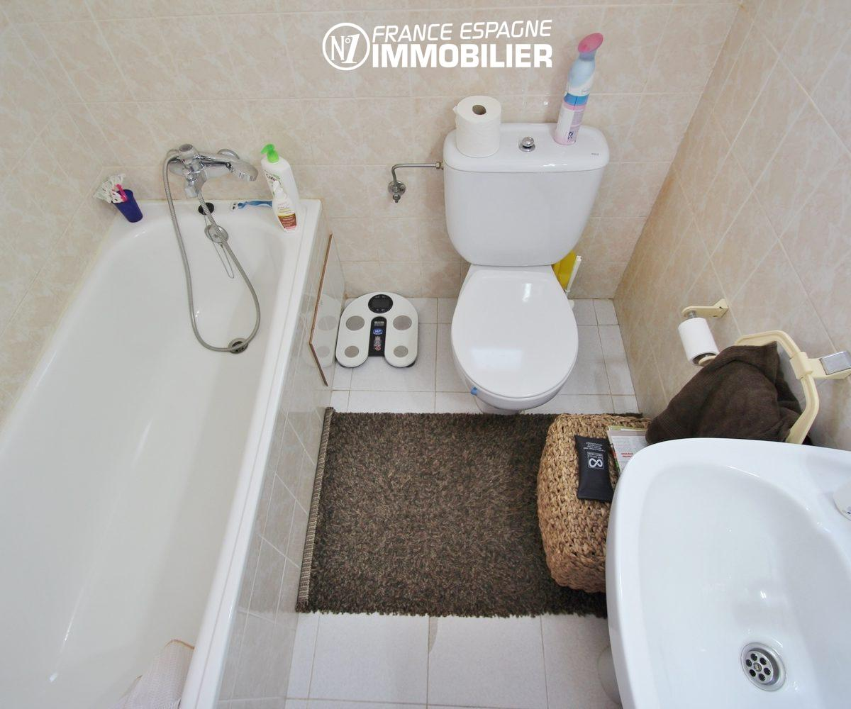 immo empuriabrava: villa piscine, 3 chambres - salle de bains
