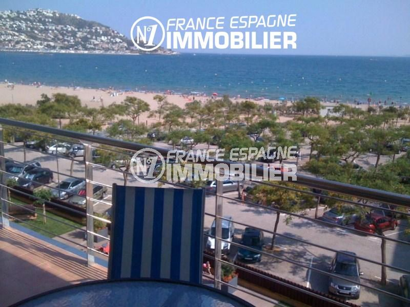 immobilier rosas: appartement 85 m² atico, terrasse superbe vue mer