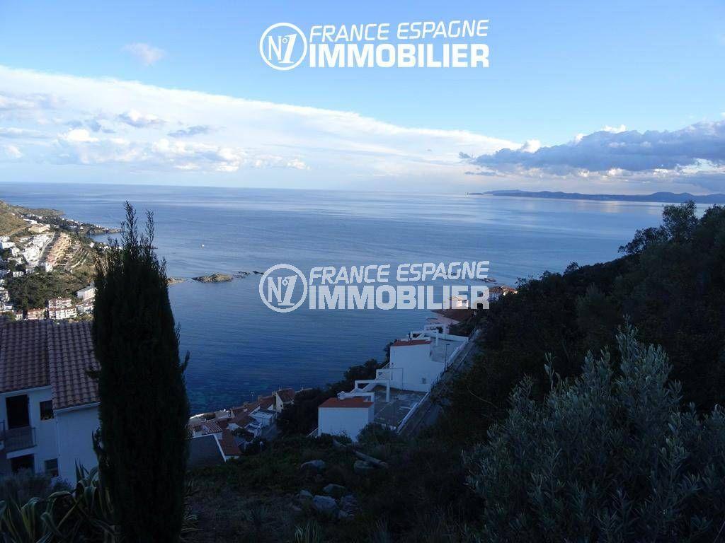 costabrava immo: terrain ref.2484, belle vue entre mer et montagne sur roses / canyelles