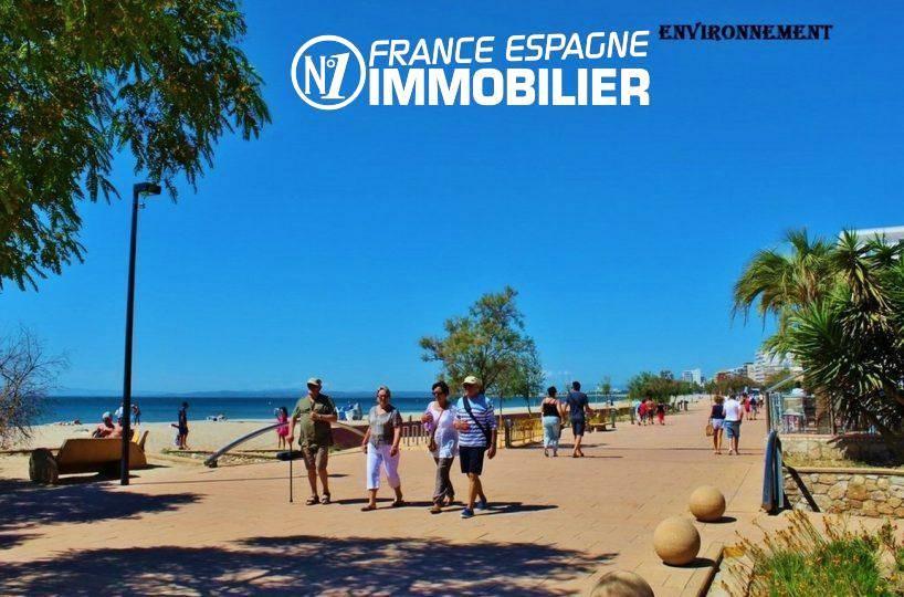 vente immobiliere rosas espagne: villa ref.3128, promenade près de la plage environnante
