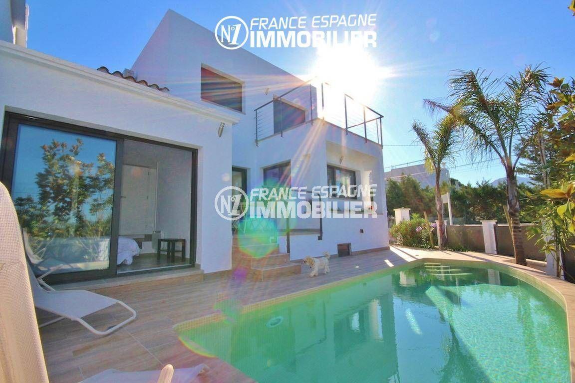 maison a vendre rosas vue mer, 130 m² avec piscine