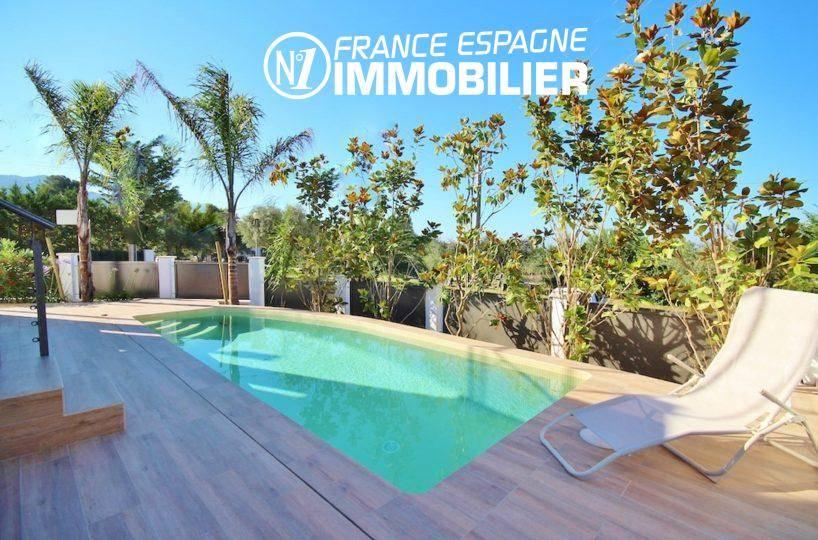 vente immobilière rosas, superbe villa 130 m², vue mer, piscine
