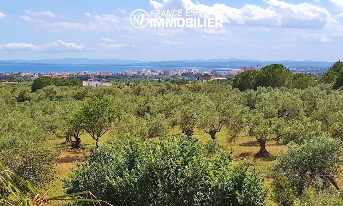 roses immobilier: villa ref.2942, magnifique paysage arboré avec vue sur la mer