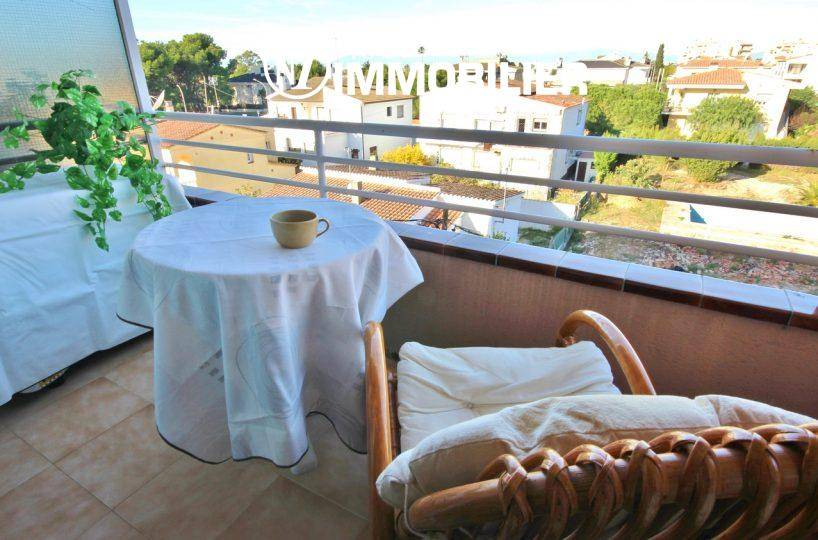 Roses - Appartement proche plage, terrasse vue mer