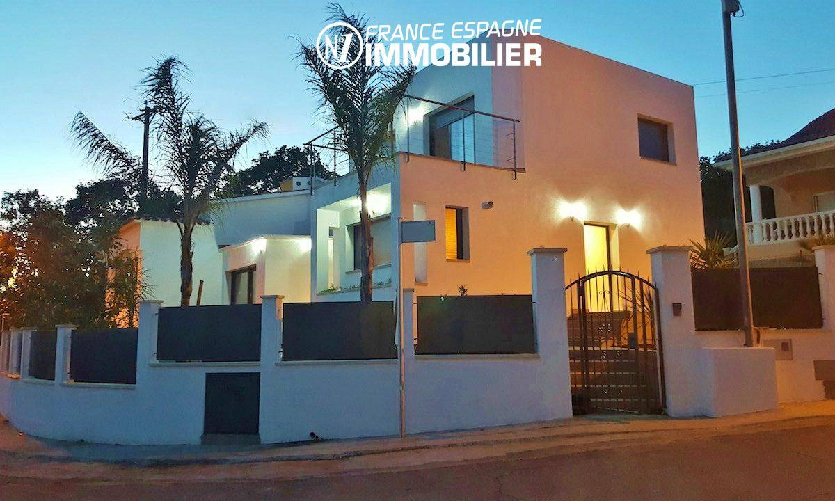 achat maison rosas: superbe villa 130 m², vue mer, piscine