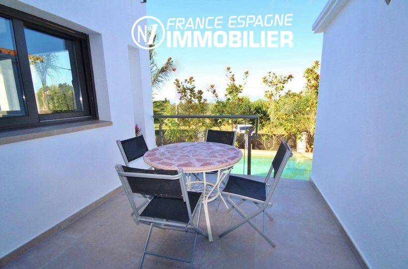 maison a vendre rosas costa brava, 130 m², grandes terrasses, vue mer, piscine