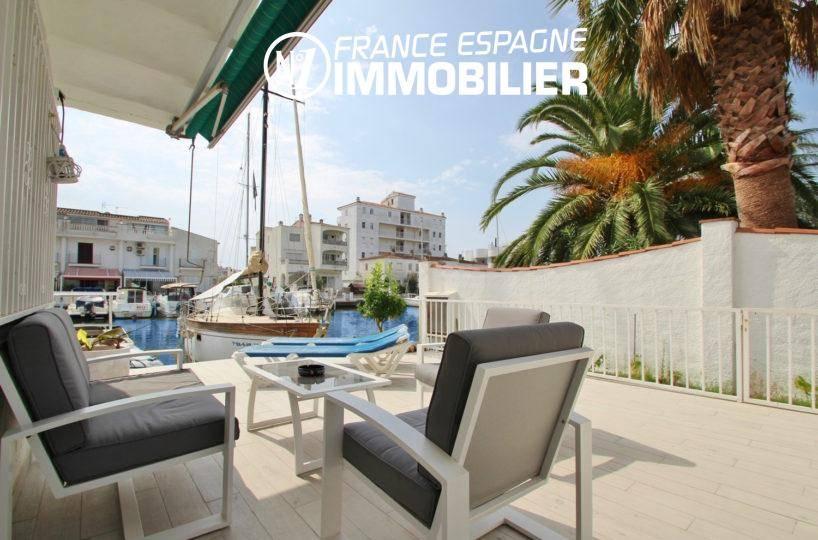 maison a vendre costa brava, ref.3291, grande terrasse avec vue sur le canal à Rosas Santa Margarida