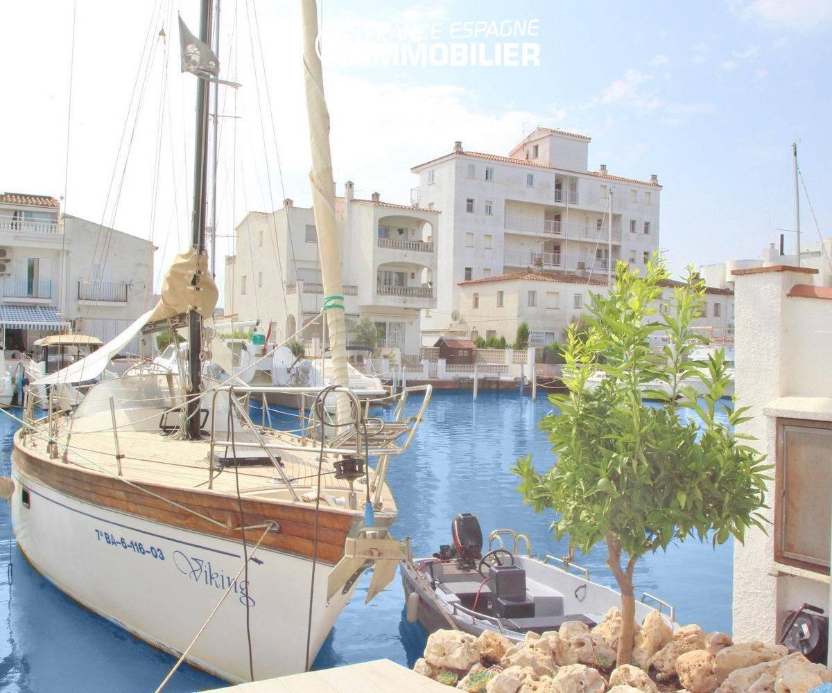 agence immobilière rosas: villa ref.3291, avec amarre pour voilier de 12 m x 4 m, grande terrasse