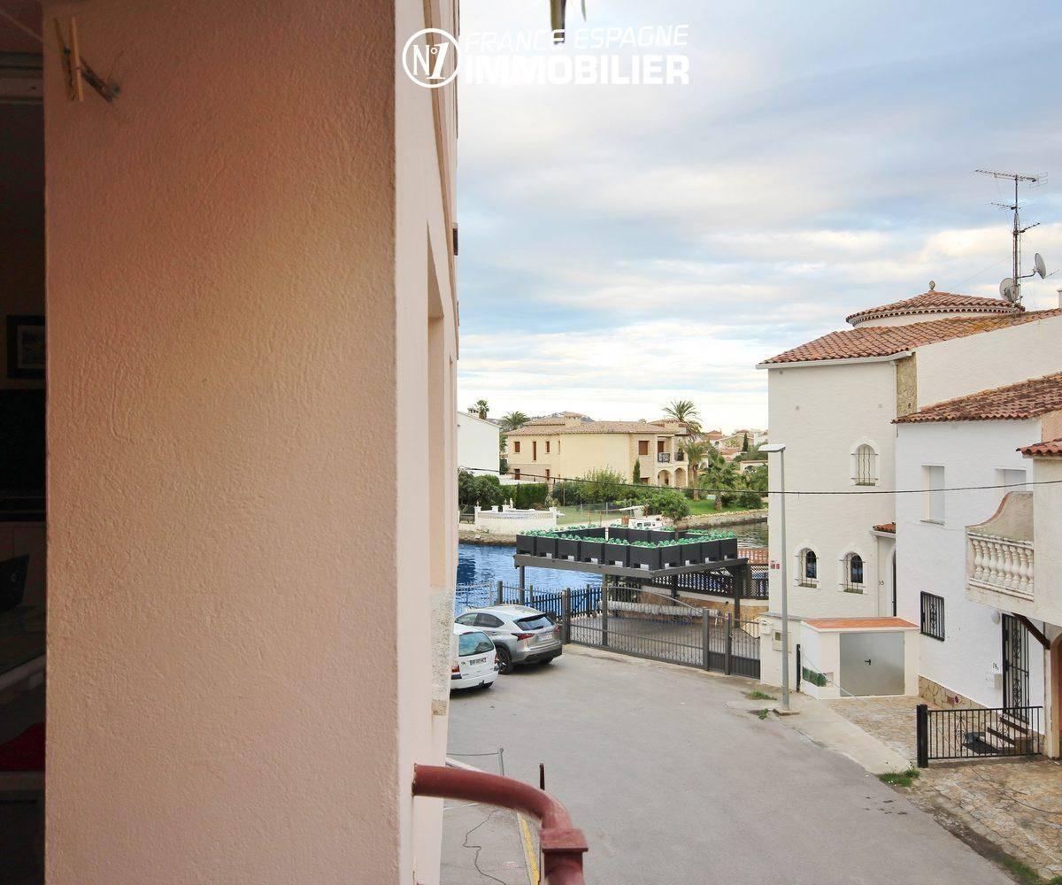 immobilier empuria brava: appartement ref.3286, petite vue canal depuis la terrasse