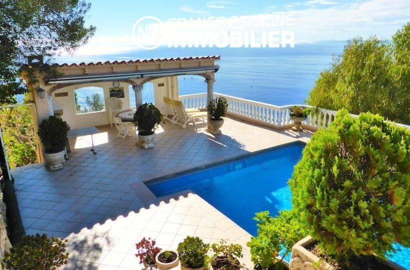 maison a vendre espagne, ref.1924, belle villa vue mer, appartement indépendant, piscine