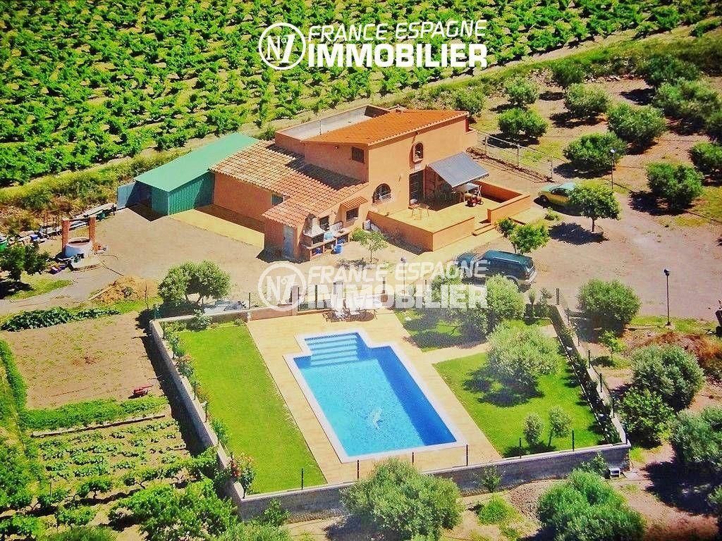 maison a vendre espagne, ref.2772,  avec piscine et exploitation agricole oliviers et vins sur 12832 m²