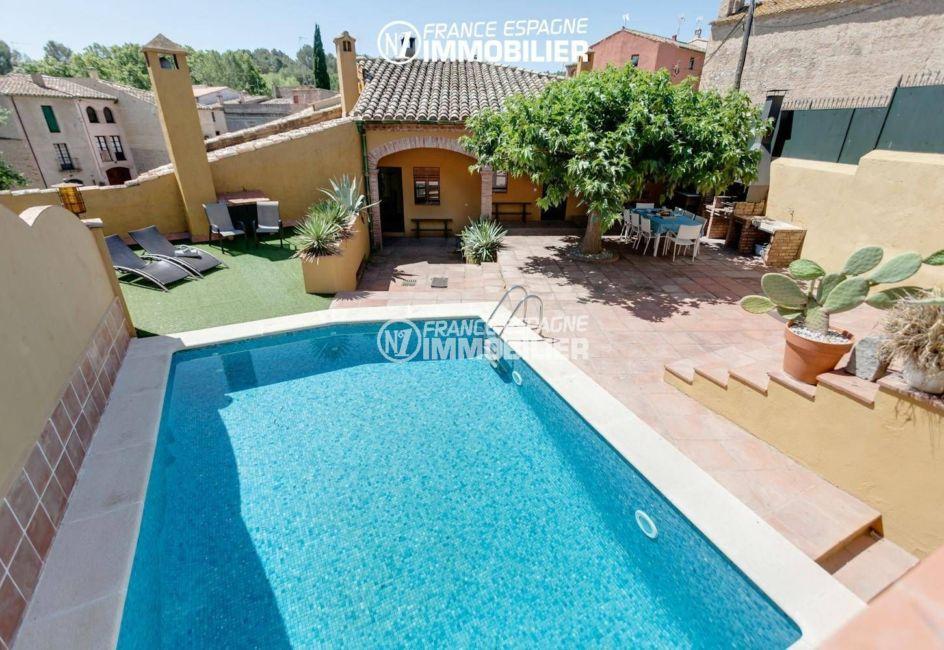 maison a vendre espagne, ref.3306, piscine avec coin détente et terrasse barbecue