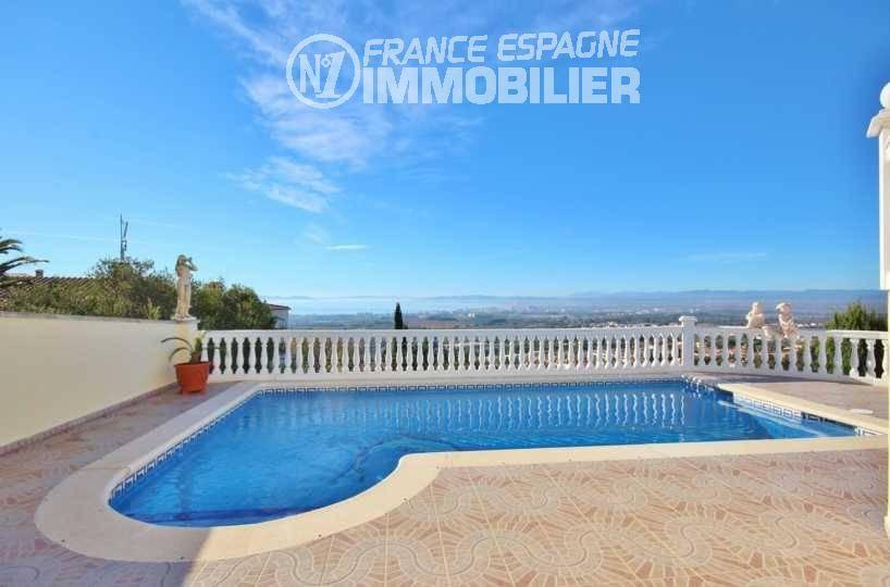 immo costa brava: villa ref.3326, terrasse & piscine vue mer et montagne
