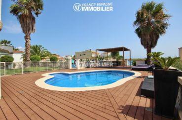 vente villa rosas, 179 m², vue sur la piscine de 7 m x 3,5 m