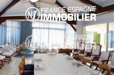 agence immobilière costa brava: ref.2786, salle à manger, coin détente et vue piscine