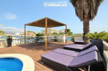 vente maison costa brava, 179 m², piscine et coin détente accès à l'amarre